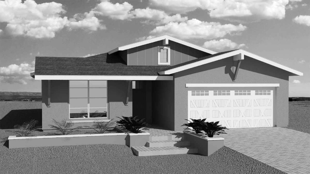 Ridgeview Aurora Modern Ranch Elevations